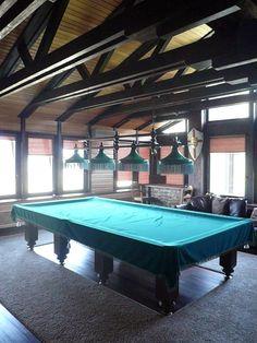 "Billiard room - Villa with pool in Moscow suburbs by Architectural bureau / Architekturbüro ""ARPM"" / Архитектурное бюро - мастерская «АРПМ» www.arp-m.com"