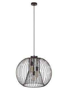 Pheonix 3 Light Pendant in Black