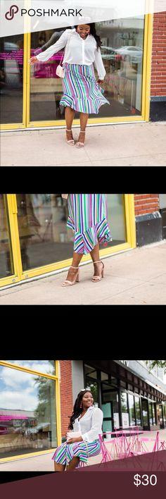 Multi color long skirt Multi colored long skirt. Skirts A-Line or Full