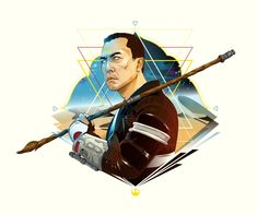 cryssy cheung art - Chirrut Imwe played by Donnie Yen, in Rogue One.