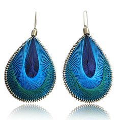 ~~Jewel Tone Thread Earrings Pondicherry India Reimagined, Modern Indian Inspired Boutique ~~