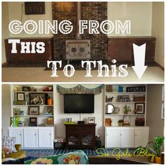 See Girls Blog: Living Room Before/After