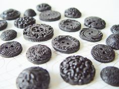 black buttons vintage edible buttons wedding favors baby shower bridal shower black and white