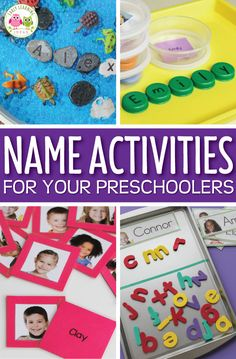 Name Activity Ideas for Your Preschoolers