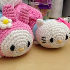 SnapWidget | Hello kitty and my melody tsum tsum made by me. I created the pattern too YouTube video soon??#tsumtsum #tsumtsumsanrio Crochet Home, Knit Or Crochet, Cute Crochet, Crochet Doilies, Kawaii Crochet, Crochet Disney, Modern Crochet Patterns, Crochet Designs, Hello Kitty Crochet