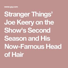 Stranger Things' Joe Keery on the Show's Second Season and His Now-Famous Head of Hair
