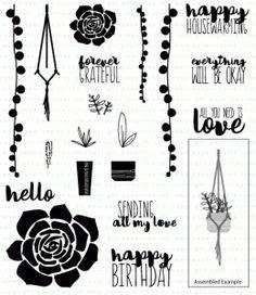 PaperTrey Ink -- Super Succulents Stamp Set  $24