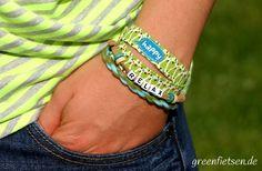greenfietsen: DIY-Armbändchen zum Neon-Outfit - Teil 1