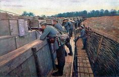 WW1 Trenches color picture https://www.facebook.com/pages/As-tears-petrified-in-the-ground-14-18-WWI/610711125633069