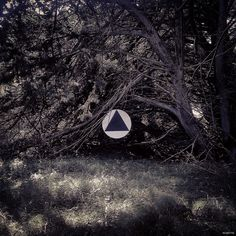 #landart #triangle #ufo #mystic #disc #circle #forest