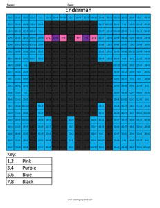 Coloring Squared Would Like For You To Enjoy These Free Minecraft Mobs Addition And Subtraction Pages