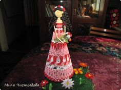 Quilling/Origami dolls - by: Carolyn Rakowski - Australian Quilling Artist and Author.