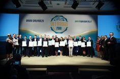 Przedstawiciele nagrodzonych firm. Fot. PTWP