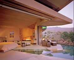 Fab modern bedroom with views and plunge pool