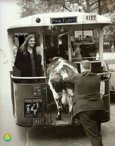 David Gilmour during the Atom Heart Mother Tour 1970/1971.