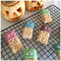 Pour Halloween,je voulais quelquechose de monstrueusement mignon et facile à réaliser avec les enfants. Je souhaitaisqu'ils participent et puis c'est toujours plus drôle de faire des gâteau…