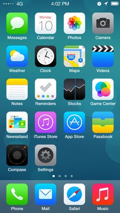 iOS 7 Redesign Features a new user interface, colors, a new font and new icons.