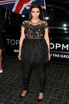 Kim Kardashian - Topshop Opening in Los Angeles