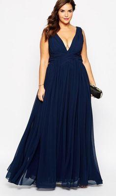 Super Style Fashion Plus Size Moda 27 Ideas Plus Size Long Dresses, Plus Size Gowns, Plus Size Outfits, Image Fashion, Curvy Fashion, Style Fashion, Bridesmaid Dresses, Prom Dresses, Formal Dresses