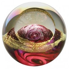 """Crystal Orbs - Venus  Planets Sized for Inside  Admirable for both its beauty and its complex creation, this Crystal Orb is a masterful representation of Venus.  Intricately detailed and colorful, this planet named after the Roman goddess of love and beauty is a unique display piece, paperweight, or decorative element for any room.  The 3 1/2"""" diameter hand-blown glass ball also includes Mt. St. Helens ash."""