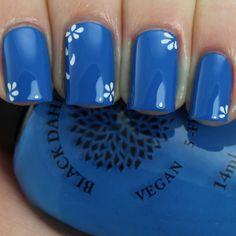 Black Dahlia Lacquer sells handcrafted artisan nail polish and cuticle oil. Blue Toe Nails, Baby Blue Nails, Gradient Nails, Green Nails, White Nails, Blue Nail Designs, Cool Nail Designs, Art Designs, Summer Acrylic Nails