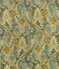 Swavelle / Mill Creek Madame Marie Aqua Fabric - $31.6 | onlinefabricstore.net
