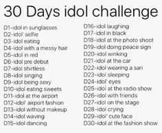 30 Day idol challenge! ❤ to-do.