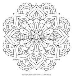 Easy Mandala Drawing, Simple Mandala, Mandala Art Lesson, Coloring Book Art, Mandala Coloring Pages, Colouring Pages, Mandala Design, Mandala Pattern, Dot Painting