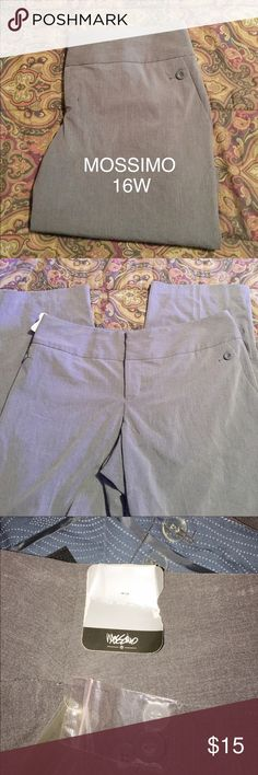 """Dress Pants By Mossimo Plus Size Low Rise 16W These pants are so cute. They have two side pockets and one back pocket. They are NWT. They measure 19"""" side to side at top of waist and inseam is 31"""". Mossimo Supply Co Pants Trousers"""