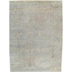 Vintage Turkish Oushak Carpet 1