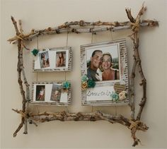 Born to be alive - Les p'tites bricoles de Delph - Best Picture For rustic Frame Crafts Twig Crafts, Driftwood Crafts, Nature Crafts, Diy Home Crafts, Cadre Photo Diy, Diy Photo, Picture Frame Crafts, Picture On Wood, Diy Simple