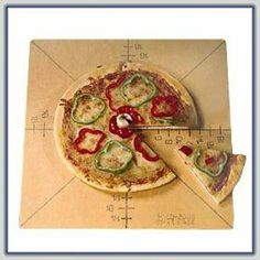 """Pizza Slice Cutting Guide Board by American Metalcraft. $73.05. Marking is in food safe FDA approved inks placed below the surface of board. 20"""" x 20"""" x 1/4"""" board. Guide is on one side only. NSF & USDA listed material for cutting board. Slicing guide. Markings for 6 slices"""