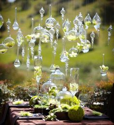 The Wedding Tea Room glass bubbles table decor