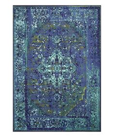Look at this Blue Vintage Reiko Rug on #zulily today!