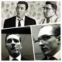 Tommy preparing for the Kray Twins role.