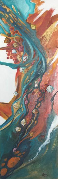 'Alluvial'  Oil on Canvas  by Kimberley Artist Jeanne Barnes https://www.facebook.com/Jeanne.Barnes.Artist.Kununurra. sold