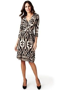 The Styling Up stylists recommend: Per Una: Animal Print Shirt Dress Wrap Style with Belt
