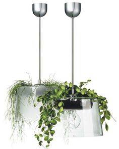 """Lampel"" by Margot Barolo for Bsweden Margot Barolo définit sa lampe… Hydroponic Plants, Hydroponics, Plant Lighting, Cool Lighting, Diy Planters, Hanging Planters, Garden Planters, Diy Hanging, Hanging Lights"