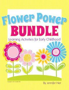 Flower Power Bundle....great activities for preschool and pre-k centers