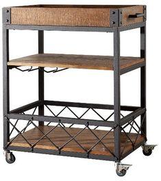 Inspire Q Ronay Industrial Bar Cart Rust - Homelegance