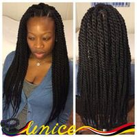 African Hairstyles Braided Hair 18-24inch Havana Mambo Twist Crochet Hair Extensions Synthetic Crochet Box Braids Free Shipping