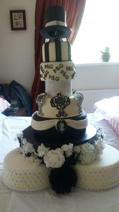 my amazing wedding cake all hand made by my mam