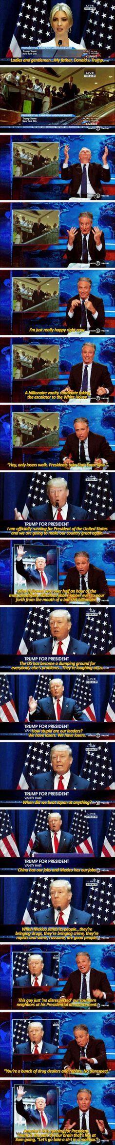 Jon Stewarts Reaction To Donald Trump Is Hilarious! – 18 Pics