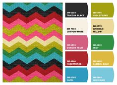 Paint colors from Chip It! by Sherwin-Williams / Fabric Waverly Panama Wave Desert Flower