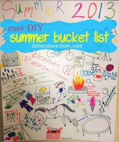 Love this idea for the first day of camp - have one in each cabin - great get to know your campers activity - DIY Summer Bucket List poster