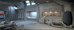 Simple interior hours of work Futuristic Bedroom, Futuristic Interior, Futuristic Architecture, Simple Interior, Interior Design, Spaceship Interior, Sci Fi Environment, Room Setup, Game Room