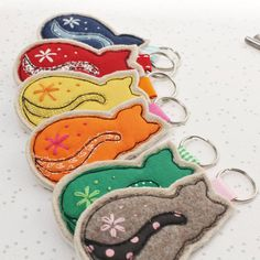 Are you interested in our Cat lovers Keyring? With our Fabric Cat Keyring you need look no further.
