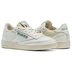 Reebok Shoes Women s Club C 85 Vintage in Chalk Glen Green Paper White Size  5 - Court 53c0b71f540