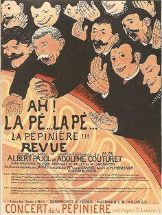 """FÉLIX-ÉDOUARD VALLOTTON ( French - Swiss ) : show """"ah! la pé... la pé... la pépinière at the café-concert"""" La Pépinière ( Paris, Pajol & Cie) ; 50 13/16 x 36 5/8 ; (M.A. 119, issue 30 , May 1898 )"""