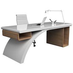 Desk Bridge realizzato in Adamantx® per Zad Italy Design - Zimmereinrichtung Office Table Design, Office Furniture Design, Office Interior Design, Office Interiors, Home Interior, Office Decor, Luxury Furniture, Modern Office Desk, Contemporary Office